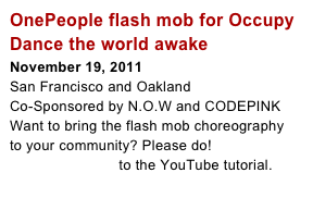 OnePeople flash mob for Occupy